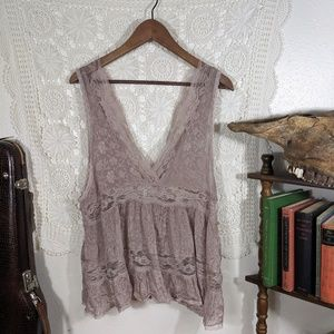 Intimately Free People pale purple night top